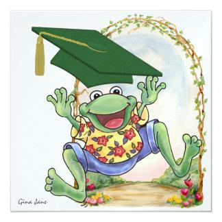 Abschluss-Frosch-Einladung - SRF Quadratische 13,3 Cm Einladungskarte