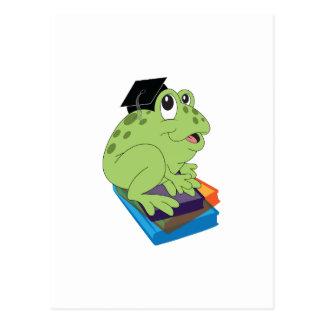 Abschluss-Frosch Postkarte