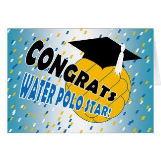 Abschluss-Glückwünsche für einen Wasser-Polo-Stern Karte