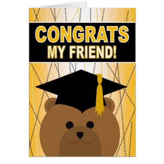Abschluss-Glückwünsche für Freund Karte