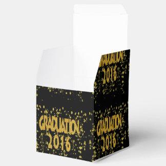 Abschluss-GoldConfetti 2016 auf Schwarzem Geschenkschachtel