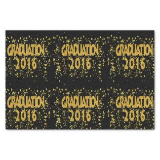 Abschluss-GoldConfetti 2016 auf Schwarzem Seidenpapier