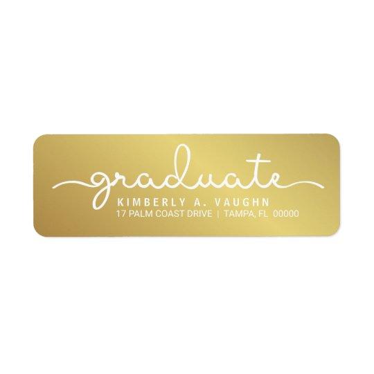 Abschluss-handgeschriebenes Goldschimmer-Skript