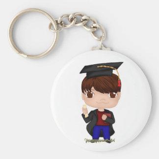 Abschluss-Junge Brown (b) Schlüsselanhänger
