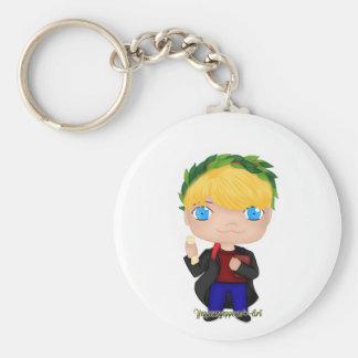 Abschluss-Jungen-Blondine (a) Schlüsselanhänger