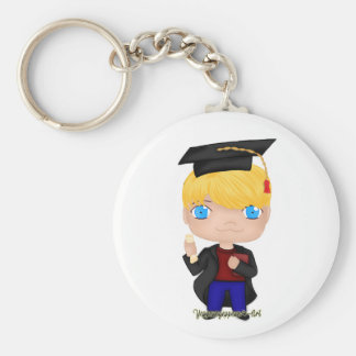 Abschluss-Jungen-Blondine (b) Schlüsselanhänger