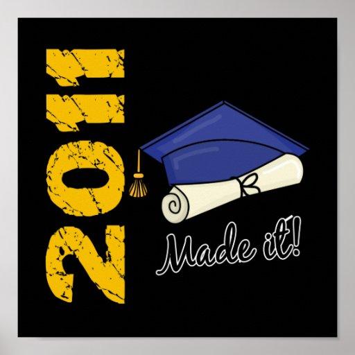 Abschluss-Kappe 2011 Plakatdrucke