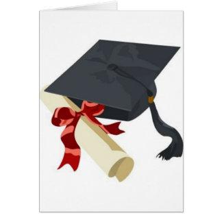 Abschluss-Kappe u. Diplom Grußkarte