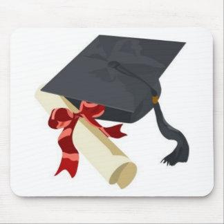 Abschluss-Kappe u. Diplom Mauspads