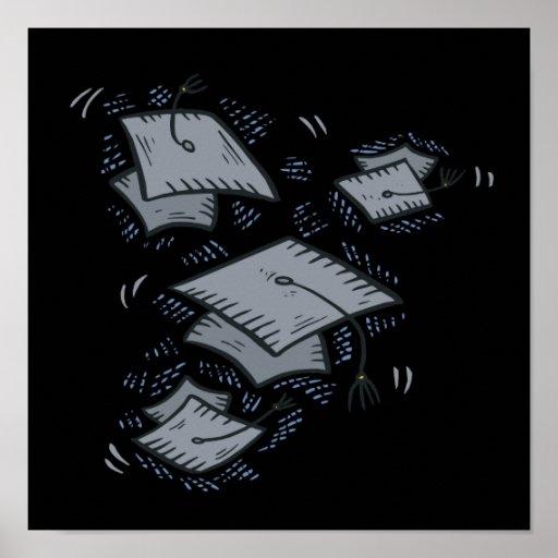 Abschluss-Kappen Posterdrucke