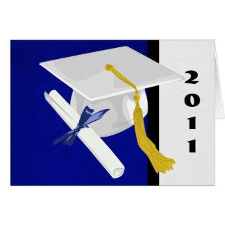 Abschluss-Kappen-und Diplom-Karte