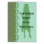 Abschluss-Karte für Tochter mit Hauptgrad Karte