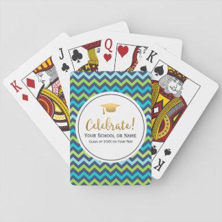 Abschluss-Klasse von 2017 buntem Girly Zickzack Spielkarten