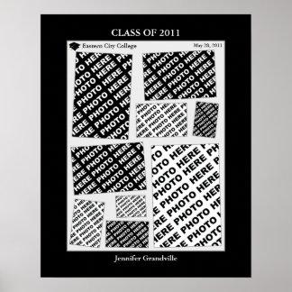 Abschluss-Klasse von Foto-Collage 2011 1 Druck Poster
