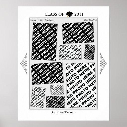 Abschluss-Klasse von Plakat 2011 der Foto-Collagen