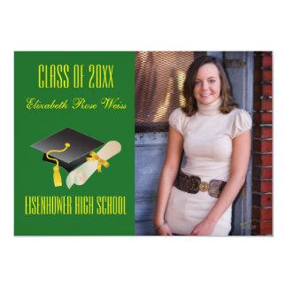 Abschluss-Mitteilung - Kappe u. Diplom 12,7 X 17,8 Cm Einladungskarte