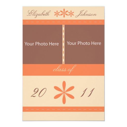 Abschluss-Mitteilungs-kundengerechtes Foto Invitat 12,7 X 17,8 Cm Einladungskarte