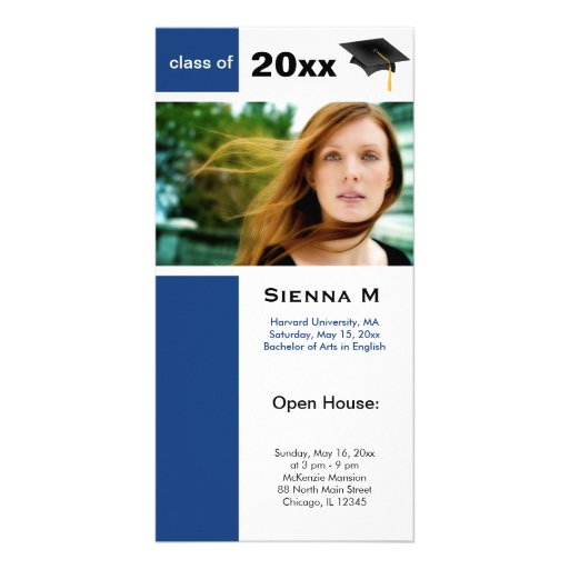 Abschluss-offenes Haus (Dodger-Blau) Bildkarten