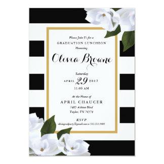 Abschluss-Party Einladung *Magnolia Stripe*