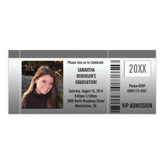 Abschluss-Party-Karten-Einladungen mit Foto 10,2 X 23,5 Cm Einladungskarte