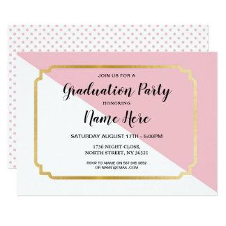 Abschluss-Party laden das hübsche rosa elegante Karte