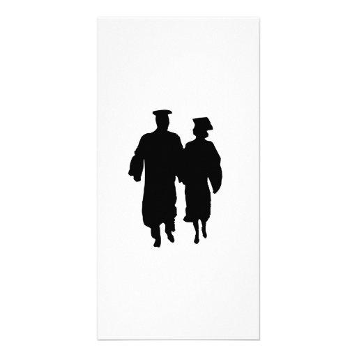 Abschluss-Silhouette Bilderkarten