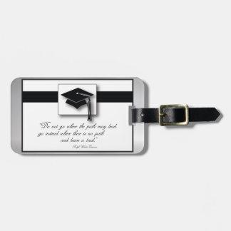 Abschluss-Weg, horizontale Geschenk-Einzelteile Gepäckanhänger