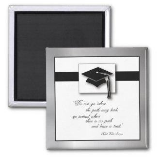 Abschluss-Weg, quadratische Geschenk-Einzelteile Quadratischer Magnet