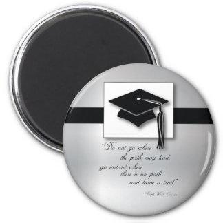 Abschluss-Weg, runde Geschenk-Einzelteile Runder Magnet 5,1 Cm