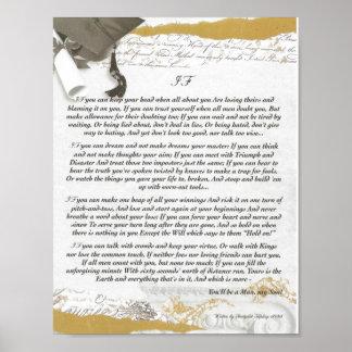 Abschluss, WENN Gedicht durch Rudyard Kipling insp Poster