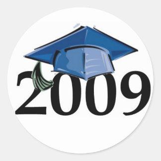Abschlussaufkleber-Siegel 2009 Runder Aufkleber