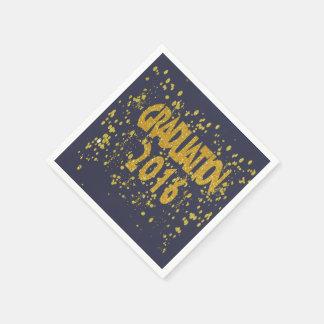 Abschlussconfetti-Glitzern 2016 auf Schwarzem Papierserviette
