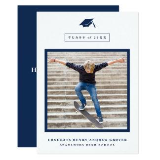 Abschlusskappe Foto-Abschlussmitteilung 12,7 X 17,8 Cm Einladungskarte