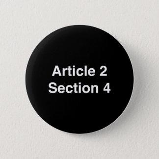 Abschnitt 4 des Artikel-2 - KLAGEN Sie an Runder Button 5,7 Cm