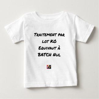 ABSCHNITTSWEISE VERARBEITUNG KO ENTSPRICHT BABY T-SHIRT