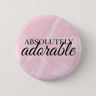 Absolut entzückend runder button 5,1 cm