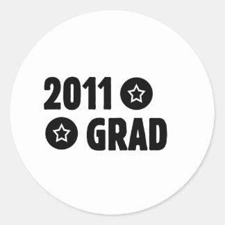 Absolvent 2011 runder aufkleber