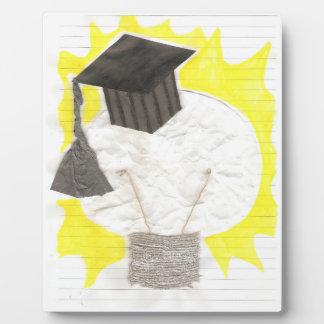Absolvent-Birne auf einem Gestell Fotoplatte