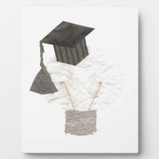 Absolvent-Birne kein Hintergrund auf einem Gestell Fotoplatte