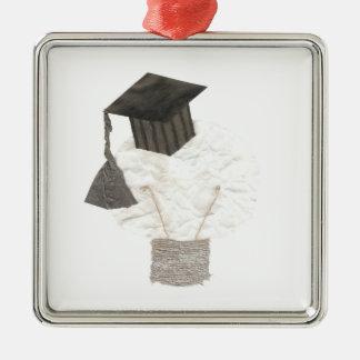 Absolvent-Birne keine Silbernes Ornament