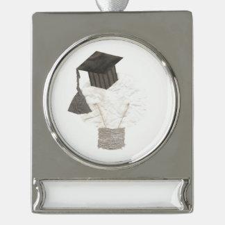 Absolvent-Birnen-Fahnen-Verzierung Banner-Ornament Silber