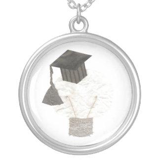 Absolvent-Birnen-Halskette Versilberte Kette