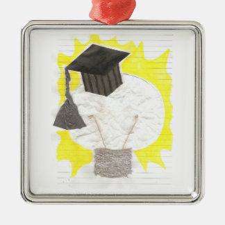 Absolvent-Birnen-Prämien-Verzierung Silbernes Ornament