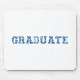 Absolvent, blauer Textentwurf für Abschluss-T - Mauspads