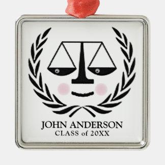 Absolvent der juristischen Fakultät Silbernes Ornament