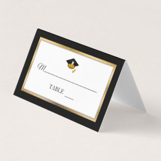 Absolvent-Kappen-Platzkarten des Schwarz-| des Platzkarte