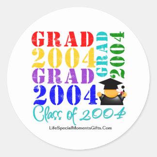 Absolvent-Klasse von 2004 Runder Sticker