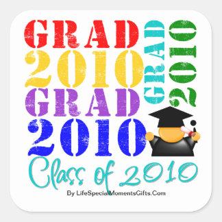 Absolvent-Klasse von 2010 Quadratsticker