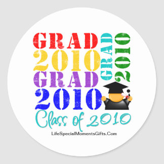 Absolvent-Klasse von 2010 Runder Sticker