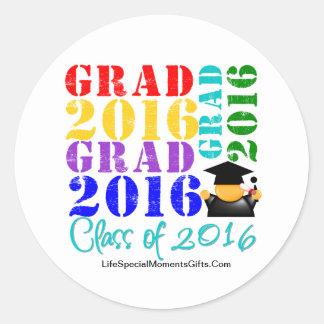 Absolvent-Klasse von 2016 Runder Aufkleber